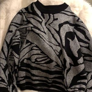 Black and Sliver Holiday Party Sweater